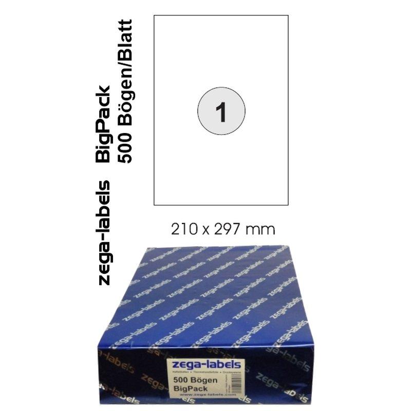 Etiketten DIN A3 420x297mmUniversal Selbstklebend 500 Blatt