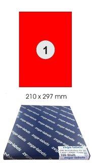 300 Etiketten 210 x 99 mm auf 100 DIN A4 Bögen 1x3 Etiketten Laser//Inkjet KLT
