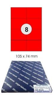 Klebeetiketten DIN A4 weiß 105x74mm 100 Blatt Laser Inkjet Kopierer