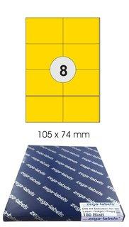800 ETIKETTEN 105 x 74 mm 100 Blatt weiß Laser Inkjet Kopierer permanent