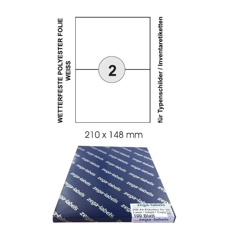 Avery Zweckform Papier-Etiketten weiß stark haftend 210x297 20 Stück Drucker