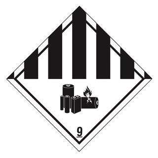 Transportaufkleber Batterien Zega Labels Haftetiketten