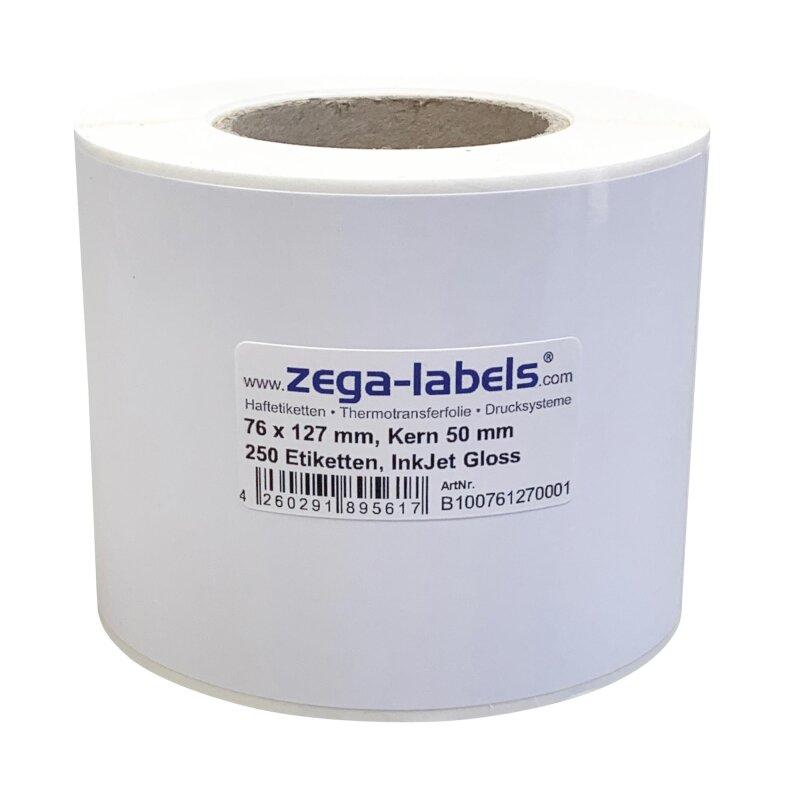 n 40 mm Kern 600 Inkjet Etiketten PP-Folie glossy 76 x 51 mm 1 Rolle