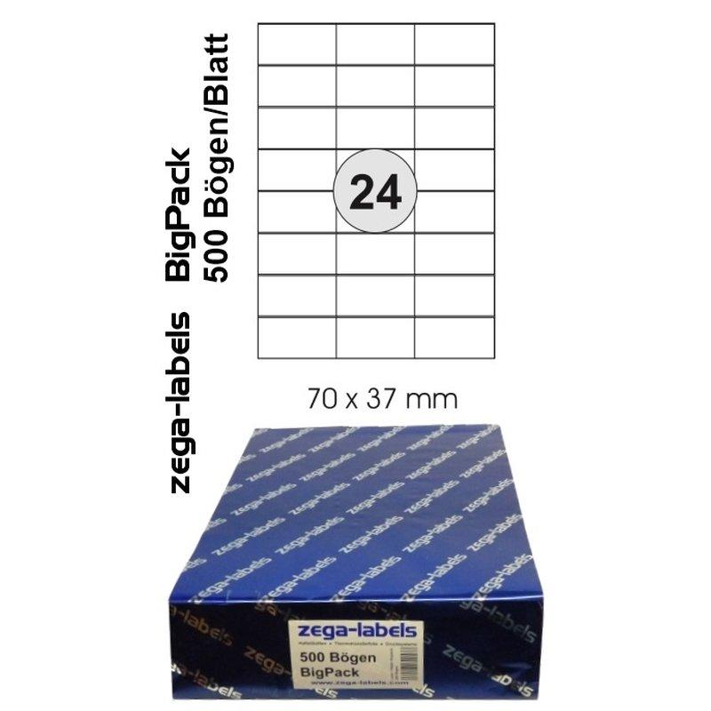 weiß matt PET-Folie selbstklebend 40 Etiketten A4 Bogen 30 mm rund